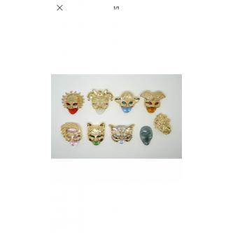 Collection de fèves masques...